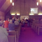 The congregation worshiping with new Day and 41West Christian Fellowship